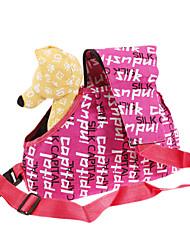 Patrón de la letra de moda de estilo europeo al aire libre Bolsa de viaje para Mascotas Perros