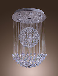 SL® 50W Modern Crystal Pendant Light with 7 Lights and Crystal Beaded Globe Decor (GU10 Base)