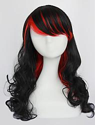 Rock Star Black and Red Godness 70cm Punk Lolita Perücke