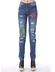 Bordado Empalme Hole Jeans FEI