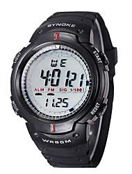 D 'enfants / Hommes SYNOKE LEO cadran numérique noir PU bande de montre-bracelet résistant à l'eau