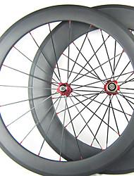700C * 88 millimetri 20,5 frontale Full Carbon 60 millimetri posteriore copertoncino Road Bike / Ruote bici