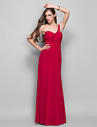 Formal Evening / Prom / Military Ball Dress - Ruby Plus Sizes / Petite Sheath/Column One Shoulder Floor-length Chiffon