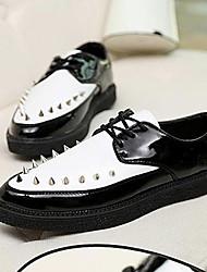 мужские низкий каблук комфорт Oxfords туфли с заклепками
