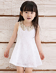 Baby Kids Children's Girls Lovely Sequins Collar Sleeveless Lace Vest Skirt Princess Dress