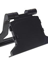 Plastica ABS nera TV della clip del supporto del basamento Dock Staffa per Microsoft Xbox 360 Slim Kinect Sensor Eye
