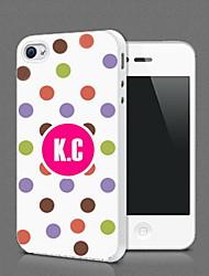 Personalizzato sveglio Dot Protezione Shell per iPhone 4S / 4