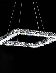 UMEI™ 10W Modern/Contemporary Crystal / LED / Bulb Included Electroplated Metal Chandeliers Bedroom