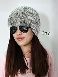 costurado à mão coelho inverno chapéu de pele (mais cores)