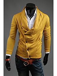 LJCP Fashion Pile Halsband Abnehmen Sweater (Gelb)