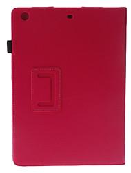 Gehobene Zwei Falten Lychee Druck-Muster Sleep / Wake Up Ganzkörper-Case mit Ständer für iPad Air (verschiedene Farben)