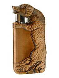 Dog Pattern Electroplate Metal Gas Lighter (Random Color)