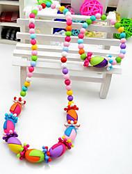Bijoux colorés Creative Set de fille (collier et bracelet) (couleur aléatoire)