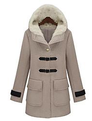 Women's Coats & Jackets , Wool Blend Casual/Work ER