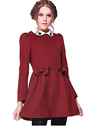 Women's Vintage Bow Beads Revome Collar Dress