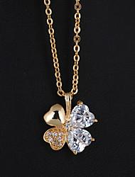 De Bin BIN Mulheres ouro 18k zircão pingente incl. Cadeia (D0238)