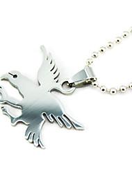 Titanium Eagle zilveren hanger ketting