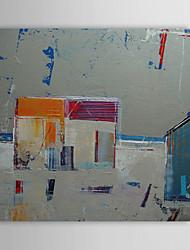 Pintado a mano pintura al óleo abstracta gris celular con el marco de estirado 1312-AB0029