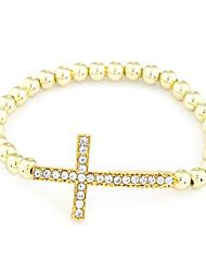 Bracelet élastique perles Croix plastique