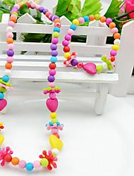 Schmuck 1 Halskette / 1 Armreif Party Acryl 1 Set Mädchen Wie in der Abbildung angezeigt Hochzeitsgeschenke