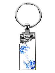 Personnalisé Rectangle style asiatique Keychain - Dragon