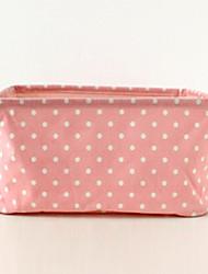 Japanese Style White Spot Pink Storage Box