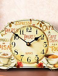 "10 ""H Country Style café silencieux de table Horloge"