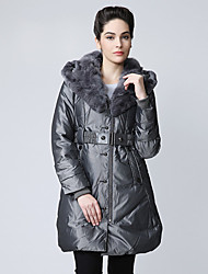 Women's Coats & Jackets , Feather/Nylon/Polyester Casual/Work XBGSZG