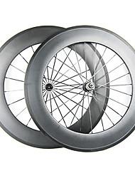 20,5 millimetri Larghezza 88 millimetri 700C carbonio pieno della graffatrice della bici della strada / Ruote bici