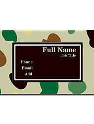 200pcs Personalized 2 Sides Printed Matte Film Abstract Style Business Card