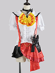 Inspired by Love Live Honoka Kōsaka Video Game Cosplay Costumes Cosplay Suits / School Uniforms Patchwork White / Red Short SleeveTop /