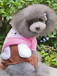 Dog Coat / Pants Blue / Pink Dog Clothes Winter Animal
