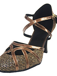 Woman's Leatherette Dance Shoes For Latin/Ballroom Sandals Customizable