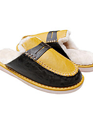 GGS 5031 Hard Bottom Fashion Yellow Cotton Slippers
