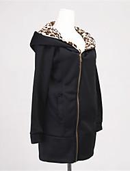 Frauen Kapuzenpullover Mantel-Sweatshirt-Jacke