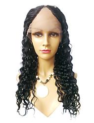 20inch Kinky Curl Middle Part Brazilian Virgin Human hair U Part Wig