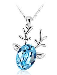 Ouxi Олень Форма кристаллов Ожерелье (синий)