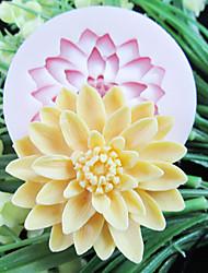 um buraco de flores de resina ferramentas artesanais açúcar moldes fondant molde de silicone profundo flor molde para bolos