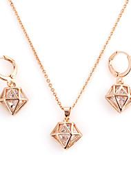 Мода Золото Проба (ожерелье и серьги) Камень Ювелирные наборы (золото)
