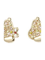 Boucles d'oreilles en forme de mignon chiot-