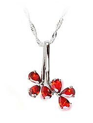 Collier Red Diamond Honeybaby Clover