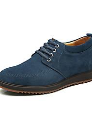 Zapatos de Hombre Exterior/Oficina y Trabajo/Casual/Fiesta y Noche Cuero Oxfords Azul