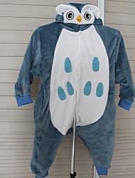 Grey Owl Flannel Kids Kigurumi Pajama