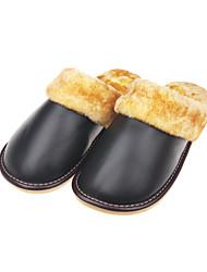 Cuir Hommes talon plat Confort chaussons (plus de couleurs)