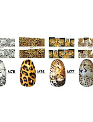 1x10PCS Animal Skin Leopard Sery Full-Cover Nail Stickers(Assorted Patterns)