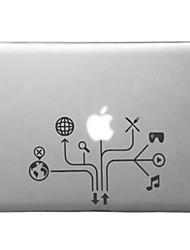 Mind-mapping Pattern Transparent PC Hard Case for MacBook Pro (Assorted Colors)