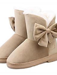 Women's Big Bowknot Winter Boots
