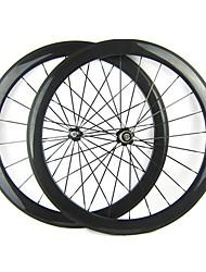 Larghezza di 25mm 700C Full Carbon Tubular 50 millimetri Road Bike / Ruote bici