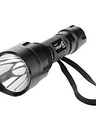 UniqueFire X8 monomodo Cree XP-E Q5 LED Flashlight (240LM, 1x18650, Negro)