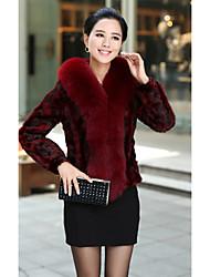 Mantón de la manga larga de piel de visón y el zorro Partido Fur / chaqueta informal (más colores)